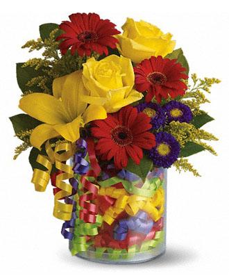 Teleflora's Birthday Ribbon Bouquet